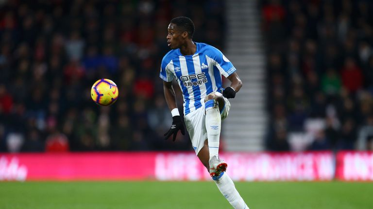 Terence Kongolo scored for Huddersfield in the 2-1 defeat at Bournemouth