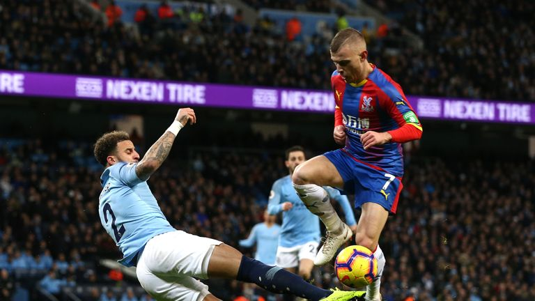 Crystal Palace shocked City by winning 3-2 at the Etihad earlier in the season