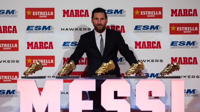 Messi's fifth Golden Shoe breaks the tie he had with Cristiano Ronaldo