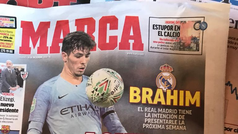 Brahim Diaz on the verge of Manchester City exit