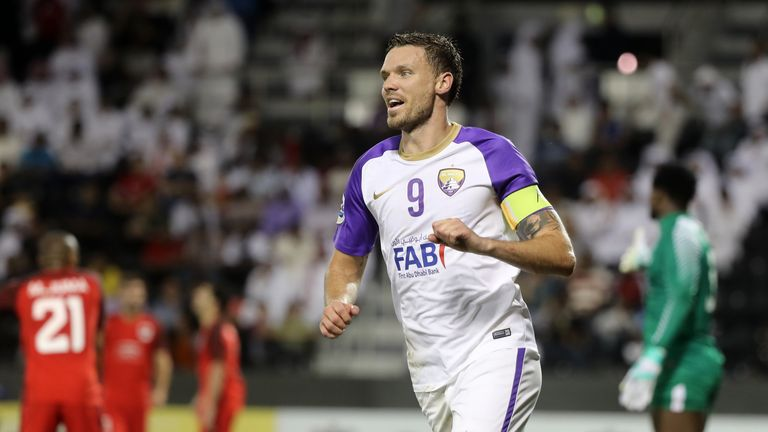 Striker Marcus Berg, who played for Sweden against England at the 2018 World Cup, should feature for Al Ain