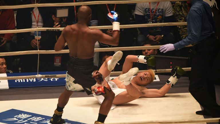 Floyd Mayweather leaves Japanese kickboxer in tears in fight farce