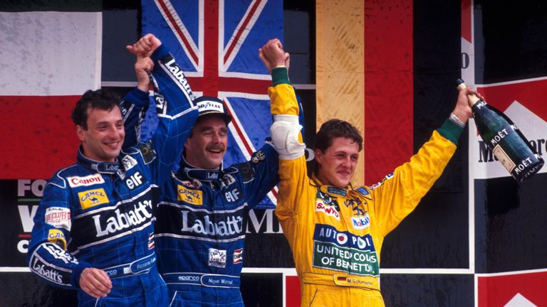 Two races into his first full season was all it took for Schumacher to claim his first F1 podium. Third place in Mexico from third on the grid, with only the dominant Williams pair of Mansell and Patrese in front all weekend.