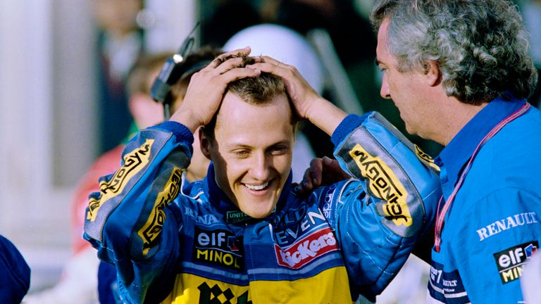 Michael became the then-youngest double world champion in emphatic style with victory at the Aida circuit. In what had become their ace card, Schumacher and Benetton beat Williams on strategy around the pitstops.