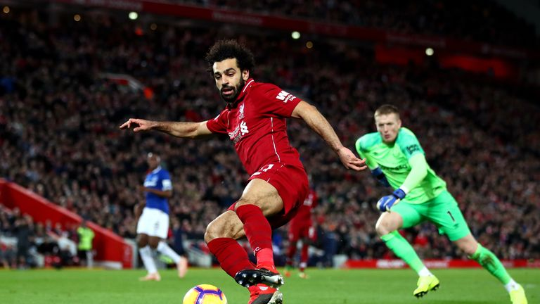 Mohamed Salah failed score in the Merseyside derby
