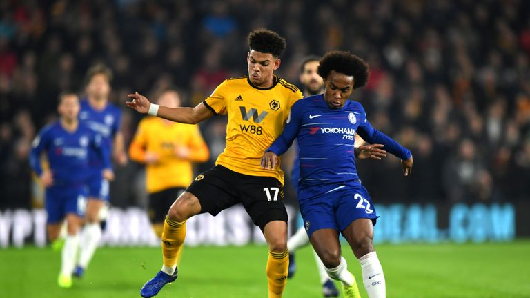 Morgan Gibbs-White will hope to impress in the Renault Super Sunday match at Newcastle