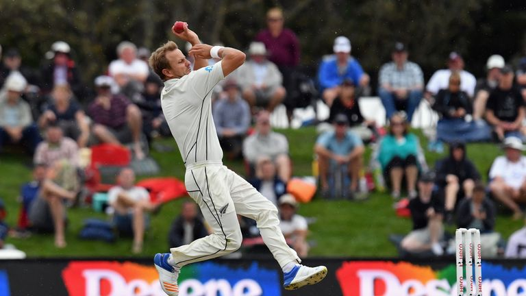 Neil Wager in action during day four of the Second Test match between New Zealand and England at Hagley Oval on April 2, 2018 in Christchurch, New Zealand.