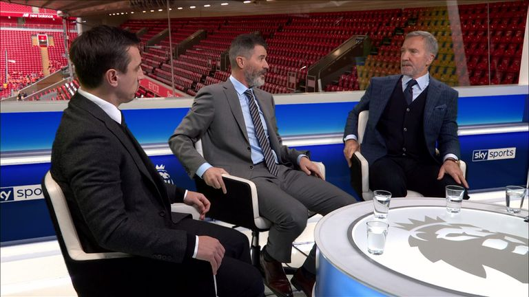 Souness as a pundit on set with Sky Sports
