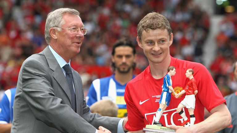 Sir Alex Ferguson managed Solskjaer at Manchester United