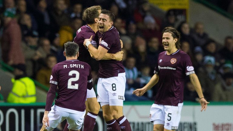 Hearts' Olly Lee scored the only goal of the game