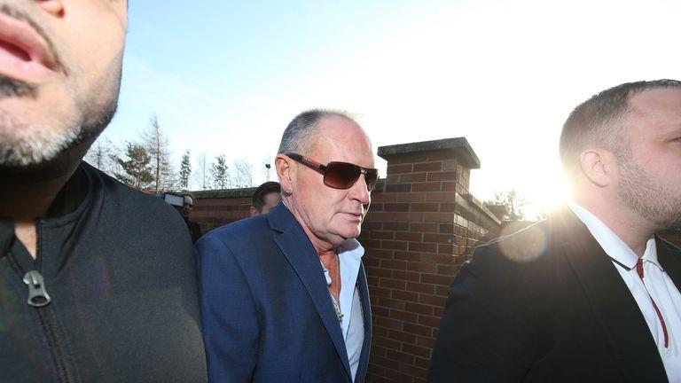 Former England footballer Paul Gascoigne arrives at Peterlee Magistrates Court