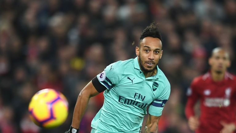 Pierre-Emerick Aubameyang was almost anonymous against Liverpool