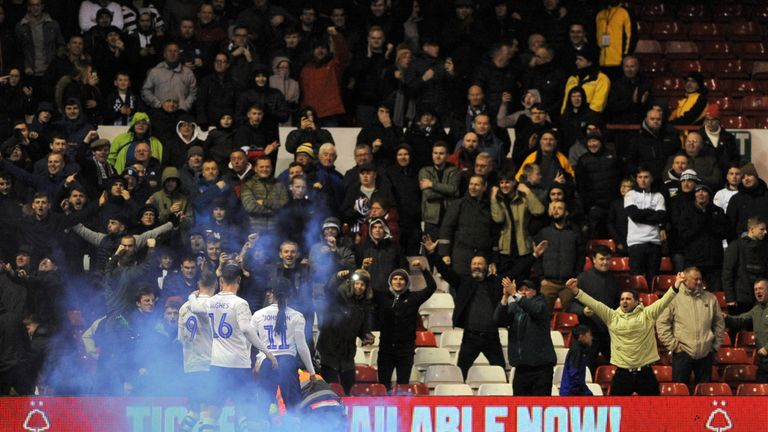 Preston North End celebrate their first goal of the match