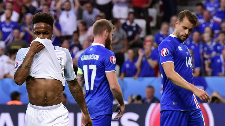 Sterling was substituted during England's Euro 2016 defeat to Iceland