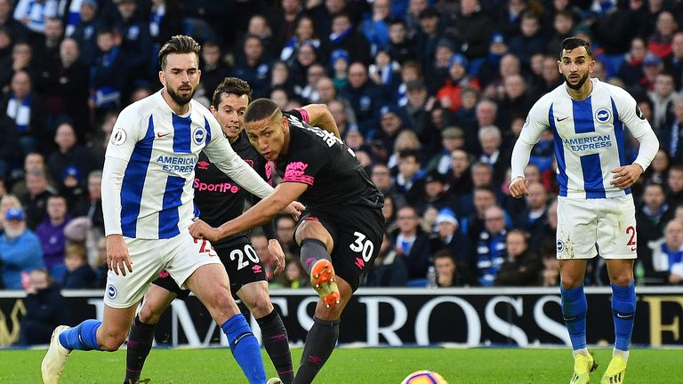 Richarlison had a shot cleared off the line in the best chance of the first half