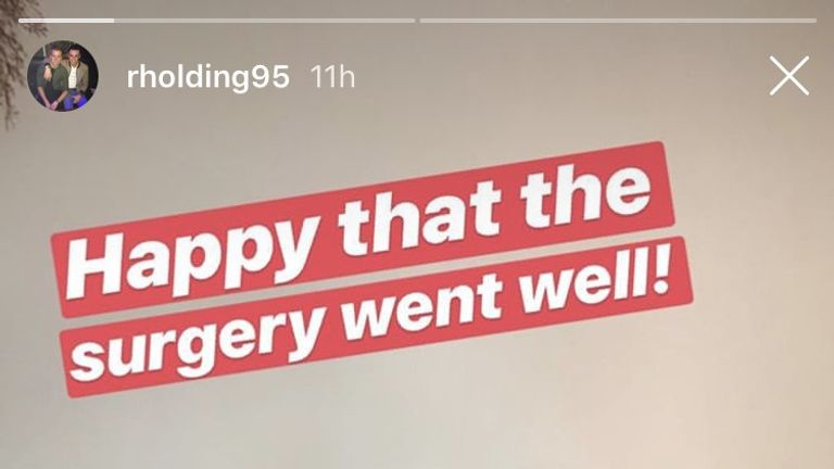 Image from Rob Holding's Instagram (@rholding95)
