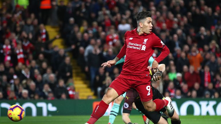 Firmino scored with a no-look finish for Liverpool