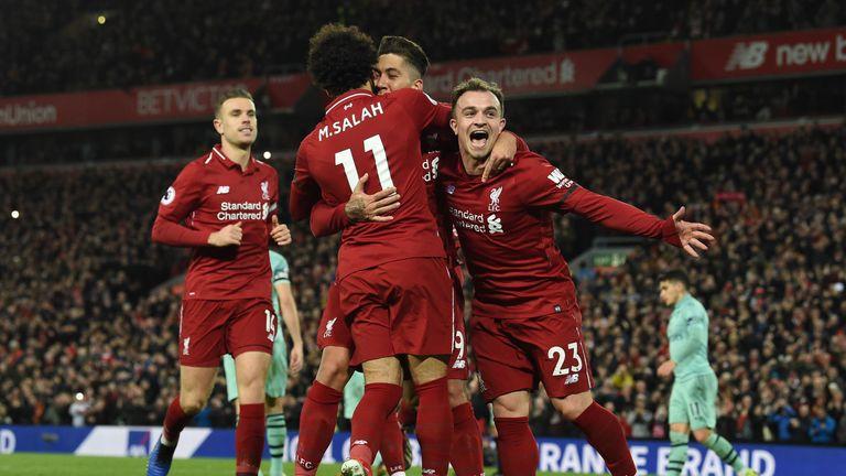 Liverpool hit five goals past Arsenal