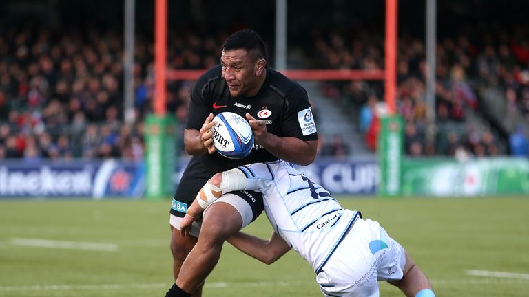 Mako Vunipola returned from injury in Saracens' win over Cardiff Blues