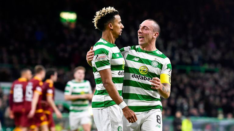 Scott Sinclair doubled Celtic's lead from the spot