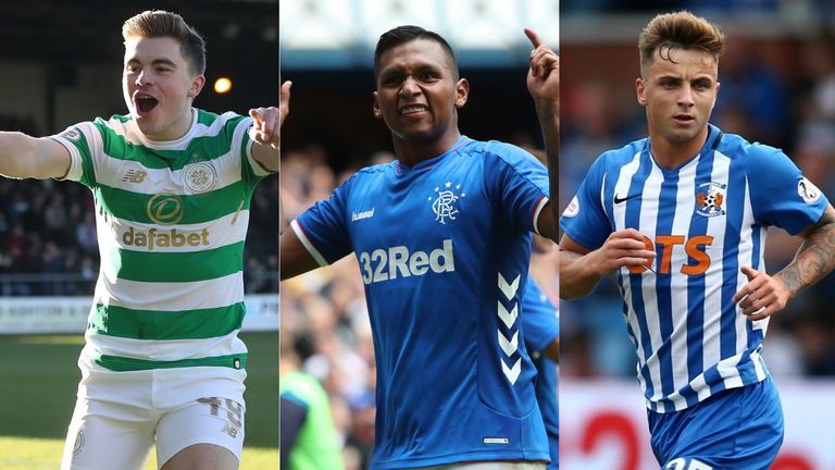 Celtic's James Forrest, Rangers' Alfredo Morelos and Kilmarnock's Eamonn Brophy have been in fine form