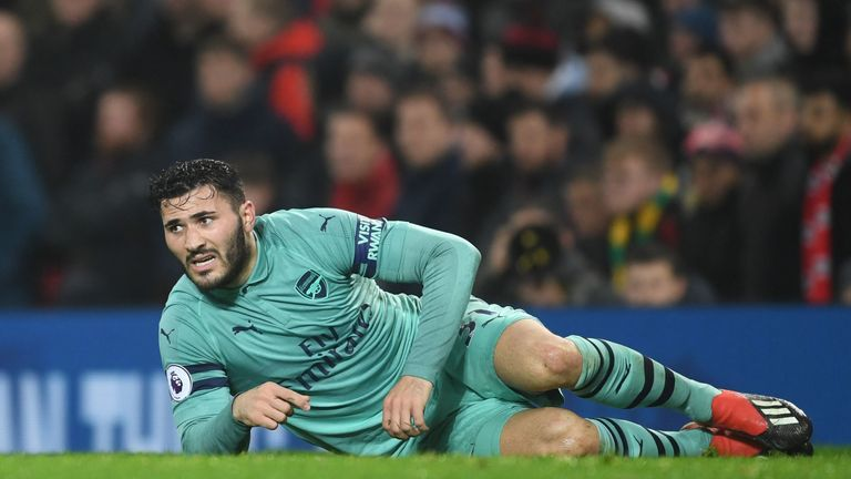 Sead Kolasinac says Arsenal team-mates helped him through Man Utd error   Football News  