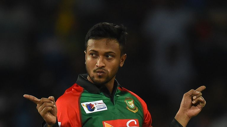 Shakib Al Hasan is a force with bat and ball for Bangladesh