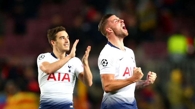 Harry Winks and Toby Alderweireld were celebrating at the end
