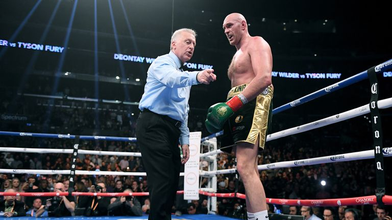 Fury dramatically climbed off the canvas in the final round of Wilder fight