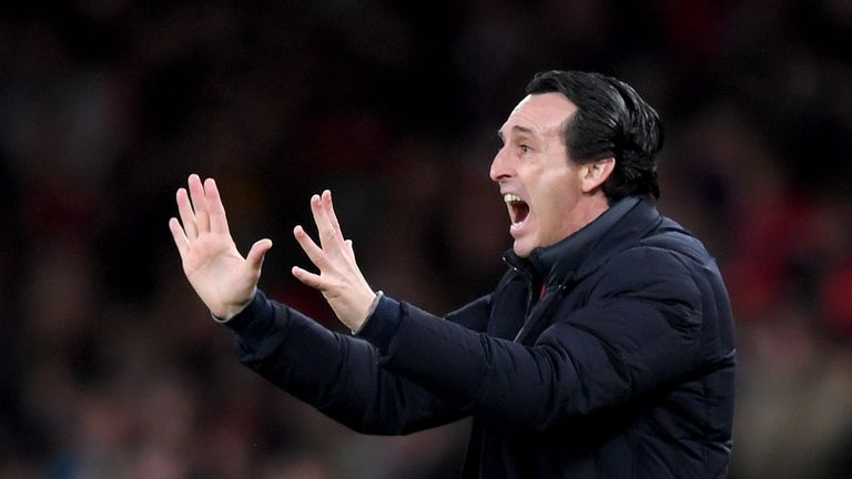Unai Emery's Emery are three points outside the top four