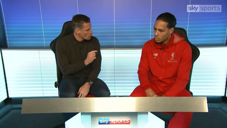 JAMIE CARRAGHER VIRGIL VAN DIJK LIVERPOOL MATCH ZONE