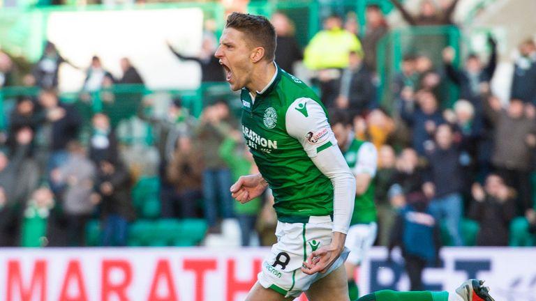 Vykintas Slivka put Hibernian ahead after just 46 seconds against Celtic