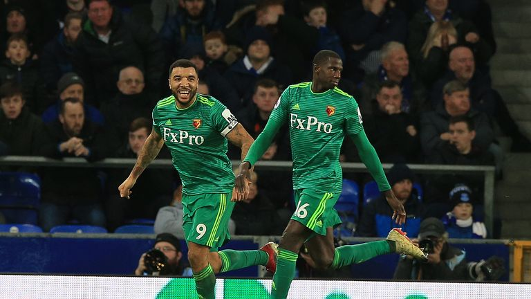 Watford's Abdoulaye Doucoure scored his side's second goal against Everton