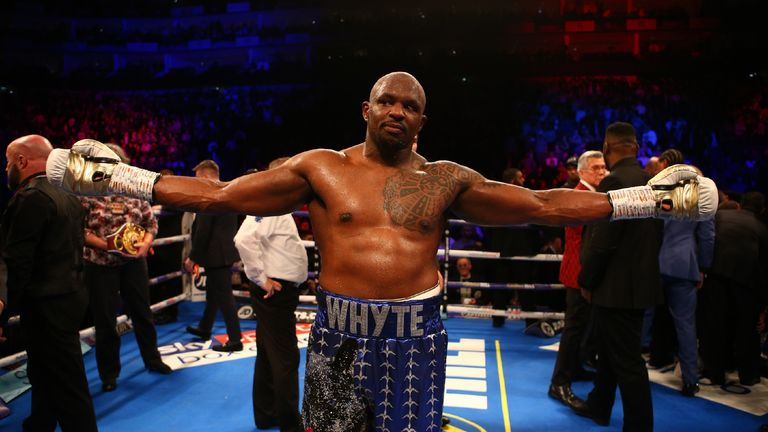 Dillian Whyte will return to the ring next month against Oscar Rivas