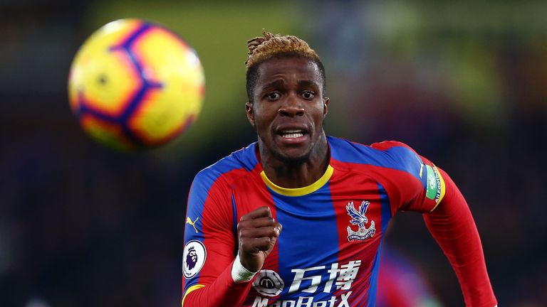 Wilfried Zaha was unable to inspire Palace to victory