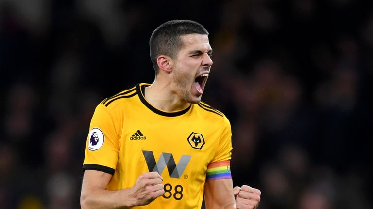 Conor Coady helped Wolves to a 3-1 win at Everton