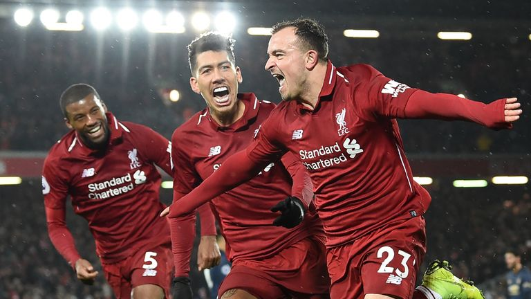Liverpool beat United 3-1 at Anfield earlier this season