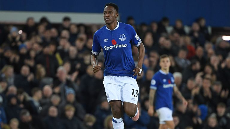 Yerry Mina moved to Everton from Barcelona in August