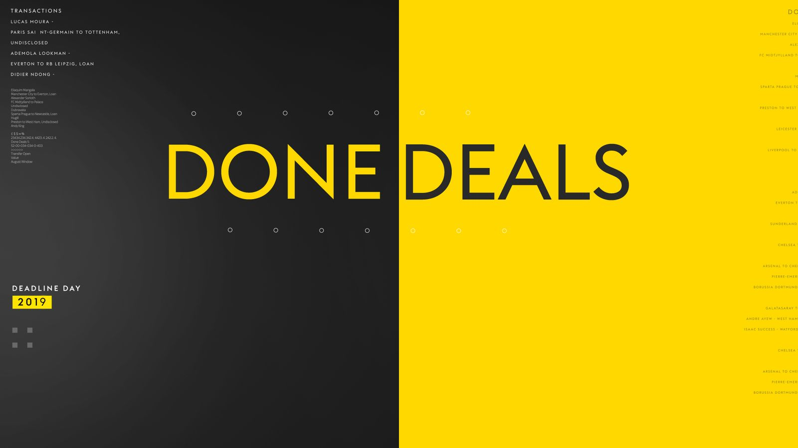 Summer transfer window 2020: Done deals in July, August