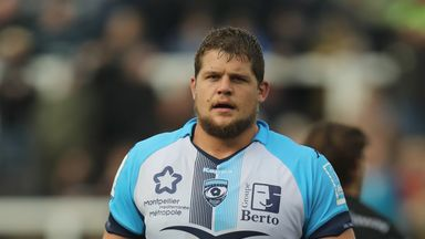 Paul Willemse in action for Montpellier