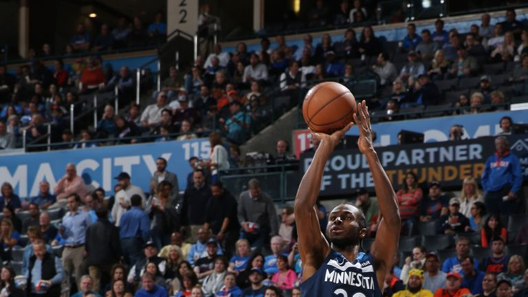 Andrew Wiggins fire from three-point land