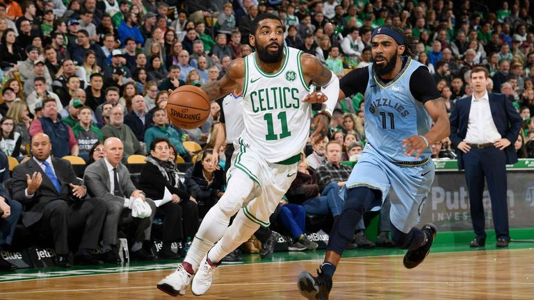 Kyrie's 38 leads Celtics past Grizzlies