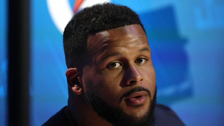Aaron Donald captured by the cameras on opening night, just not by me
