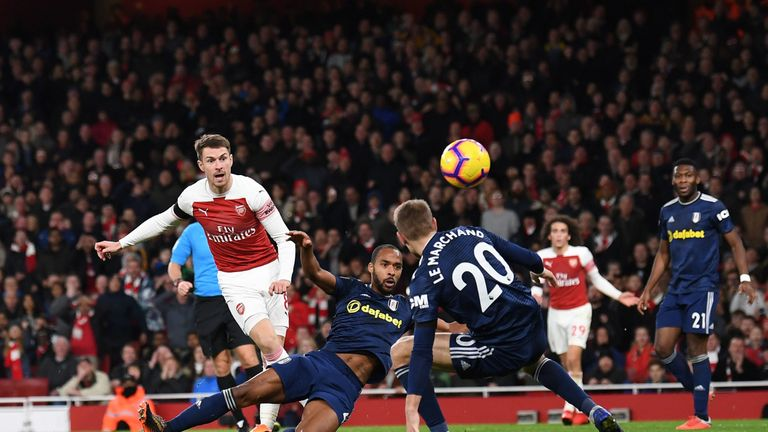 Aaron Ramsey missed Arsenal training with a knee injury