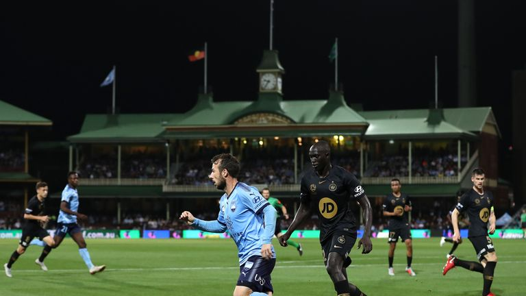 Le Fondre in action for his new club at the Sydney Cricket Ground