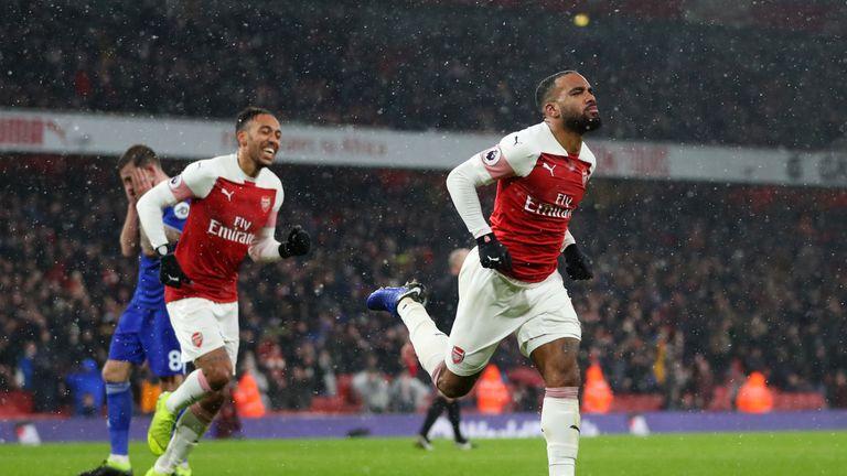Alexandre Lacazette doubled Arsenal's lead