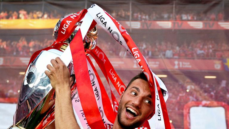 Andreas Samaris has won three league titles during his time at Benfica
