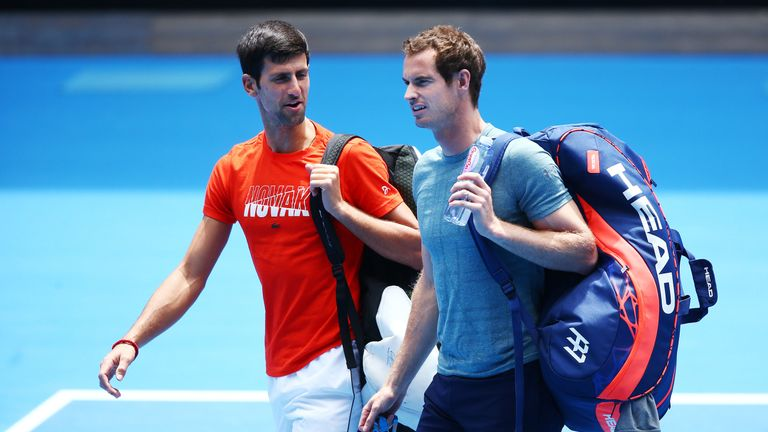 Novak Djokovic practised with Murray in Melbourne