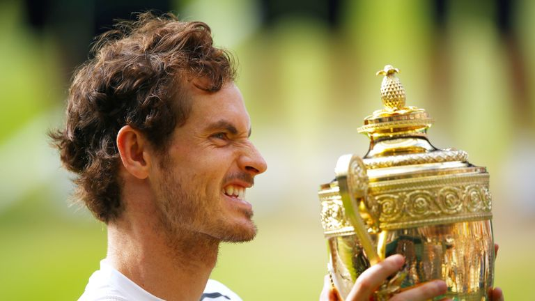 Andy Murray won the second of his Wimbledon singles titles in 2016