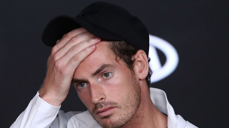 Andy Murray was unable to progress to the second round despite a stirring performance